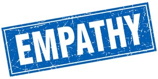 Empathy stamp. Empathy square grunge stamp isolated on white background Royalty Free Stock Photo