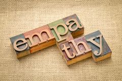 Empathy word abstract in wood type Royalty Free Stock Photos