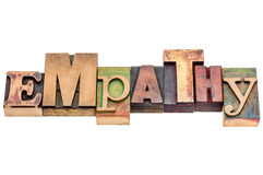 Empathy word abstract in wood type Royalty Free Stock Photo