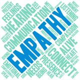Empathy Word Cloud. On a white background Royalty Free Stock Photo