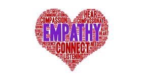 Empathy Word Cloud. On a white background stock illustration