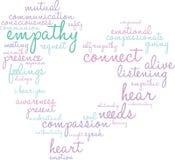 Empathy Word Cloud Stock Image