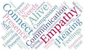 Empathy Word Cloud. On a white background Royalty Free Stock Images