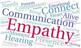 Empathy Word Cloud. On a white background Stock Photography