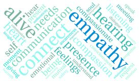 Empathy Word Cloud. On a white background Stock Image