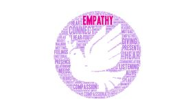 Empathy Word Cloud. On a white background royalty free illustration