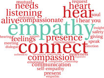 Empathy Word Cloud Stock Images