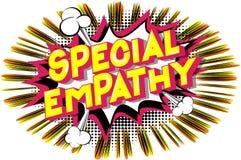 Empatia especial - palavras do estilo da banda desenhada ilustração do vetor