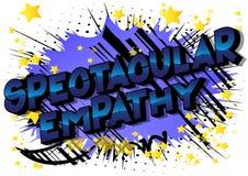 Empatia espetacular - palavras do estilo da banda desenhada ilustração royalty free