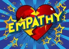Empatia - komiksu stylu słowa ilustracji