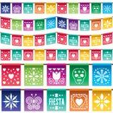 Empavesado de papel mexicano Fotografía de archivo libre de regalías