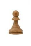 Empeño blanco del ajedrez aislado en el fondo blanco Fotografía de archivo libre de regalías
