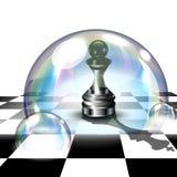 Empeño del ajedrez en burbuja de jabón ilustración del vector 3d Fotografía de archivo libre de regalías
