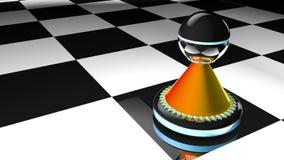 Empeño del ajedrez en el ejemplo 3D stock de ilustración