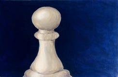 Empeño del ajedrez - pintura de acrílico imagenes de archivo