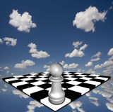 Empeño en el tablero de ajedrez Imagen de archivo libre de regalías