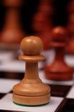 Empeño en tarjeta de ajedrez Imagen de archivo libre de regalías