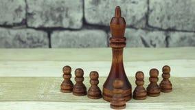 Empeños negros del ajedrez y rey negro metrajes