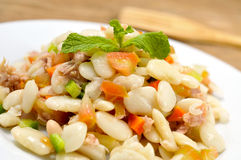 Empedrat, a white bean salad typical of Catalonia, Spain Stock Image