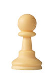 Empeño blanco del ajedrez Imagenes de archivo