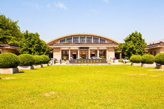 Emper Qin's Terra-cotta warriors and horses Museum. The picture shows the building of Museum Royalty Free Stock Image