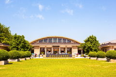 Emper Qin's Terra-cotta warriors and horses Museum. The picture shows the building of Museum Royalty Free Stock Photos