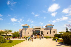 Emper Qin's Terra-cotta warriors and horses Museum. The picture shows the building of Museum Royalty Free Stock Photo