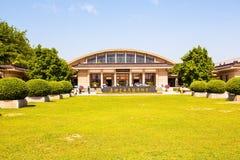 Emper Qin& x27 ; musée de guerriers et de chevaux de terre cuite de s Image libre de droits