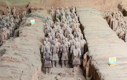 Emper Qin's Terra-cotta warriors and horses Museum Stock Photos