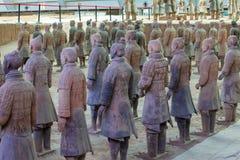 Emper Qin's Terra-cotta warriors and horses Museum Stock Photo