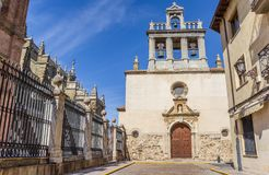 Emperedada church in the historic center of Astorga Royalty Free Stock Images