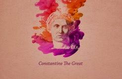 Empereur Constantine le grand illustration de vecteur