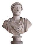 Empereur romain Hadrian d'isolement sur le whi Image stock