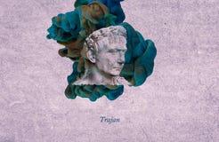 Empereur romain Trajan illustration libre de droits