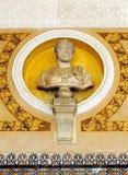 The emperor Antoninus Pius, Palace of Casa de Pilatos, Seville, Spain Stock Images
