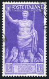 Emperor Augustut. ITALY - CIRCA 1937: stamp printed by Italy, shows Election to the Emperor Augustut, circa 1937 Royalty Free Stock Images