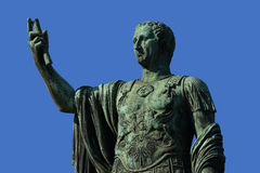 Emperor Caesar Augustus Nerva. Bronze statue of Nerva, emperor of Ancient Rome, in the Imperial Forum Stock Photography