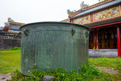 Emperor citadel, Hue, Vietnam. A section of the emperor citadel, Hue, Vietnam royalty free stock photography