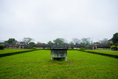 Emperor citadel, Hue, Vietnam. A section of the emperor citadel, Hue, Vietnam royalty free stock images