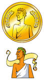 Emperor coin Royalty Free Stock Photography