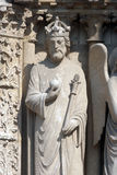 Emperor Constantine, Notre Dame Cathedral, Paris. Portal of the Virgin Stock Images
