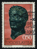 Emperor Constantine. RUSSIA KALININGRAD, 12 NOVEMBER 2016: stamp printed by Yugoslavia, shows the sculpture of Emperor Constantine, circa 1971 Royalty Free Stock Images