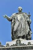 Emperor Francis II statue closeup in Graz, Austria Stock Image