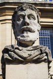 Emperor Head Sculpture in Oxford Stock Image