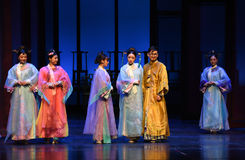 The emperor and his concubines-Opening the first act-Modern drama Empresses in the Palace Stock Photos