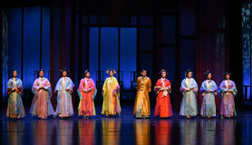 The emperor and his concubines-Opening the first act-Modern drama Empresses in the Palace Royalty Free Stock Photo