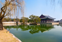 Emperor Kyoungbok palace at Seoul Royalty Free Stock Photography