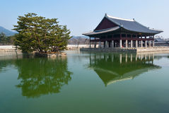 Emperor Kyoungbok palace at Seoul of South Korea Royalty Free Stock Image