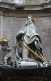 Emperor Leopold praying. Statue of Emperor Leopold praying, Plague Monument in Vienna, Austria Royalty Free Stock Image