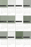 Emperor and mallard colored geometric patterns calendar 2016 Royalty Free Stock Photography